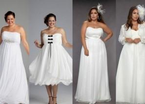 Свадебное платье для невысоких и полных
